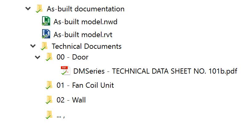 Folders in Navis